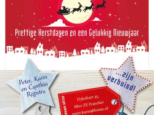 Kerst en verhuiskaart